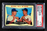 Rival All-Stars (Mickey Mantle, Ken Boyer) [PSA 4 VG‑EX]