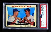 Rival All-Stars (Mickey Mantle, Ken Boyer) [PSA 6 EX‑MT]