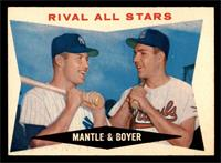 Rival All-Stars (Mickey Mantle, Ken Boyer) [EX]