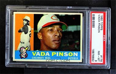 1960 Topps - [Base] #176 - Vada Pinson [PSA8NM‑MT]