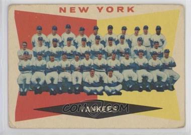 1960 Topps - [Base] #332 - New York Yankees [GoodtoVG‑EX]
