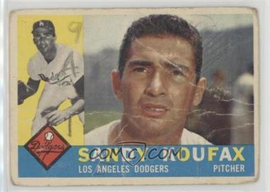 1960 Topps - [Base] #343 - Sandy Koufax [Poor]