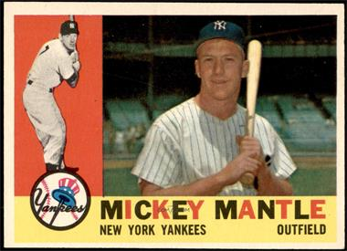 1960 Topps - [Base] #350 - Mickey Mantle [EX]