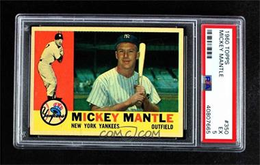 1960 Topps - [Base] #350 - Mickey Mantle [PSA 5 EX]
