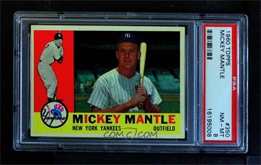 1960 Topps - [Base] #350 - Mickey Mantle [PSA8NM‑MT]