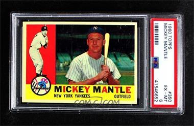 1960 Topps - [Base] #350 - Mickey Mantle [PSA6EX‑MT]