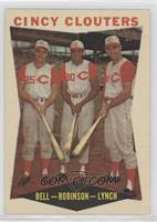 Gus Bell, Frank Robinson, Jerry Lynch
