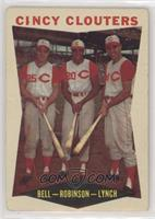 Gus Bell, Frank Robinson, Jerry Lynch [Poor to Fair]