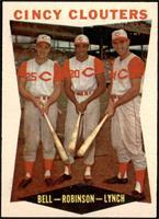 Gus Bell, Frank Robinson, Jerry Lynch [NM]