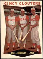 Gus Bell, Frank Robinson, Jerry Lynch [EX]