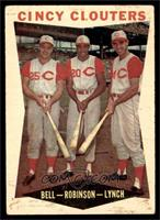 Gus Bell, Frank Robinson, Jerry Lynch [GOOD]