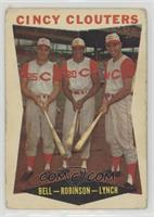 Gus Bell, Frank Robinson, Jerry Lynch [PoortoFair]