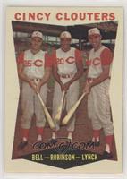 Gus Bell, Frank Robinson, Jerry Lynch