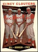 Gus Bell, Frank Robinson, Jerry Lynch [NMMT]