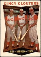 Gus Bell, Frank Robinson, Jerry Lynch [VG]