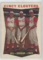 Gus Bell, Frank Robinson, Jerry Lynch [Good to VG‑EX]