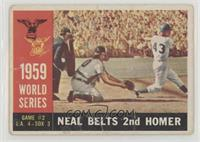 World Series Game #2: Neal Belts 2nd Homer (Charlie Neal) (White Back) [Poor]