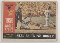 World Series Game #2: Neal Belts 2nd Homer (Charlie Neal) (White Back) [Poor&nb…