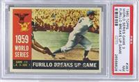 World Series Game #3: Furillo Breaks Up Game (Carl Furillo) (Gray Back) [PSA&nb…
