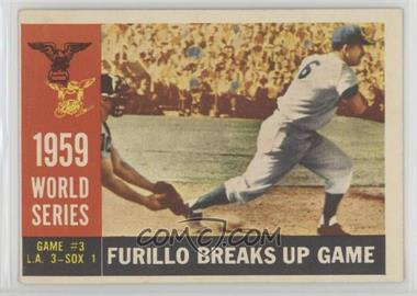 1960 Topps - [Base] #387.2 - World Series Game #3: Furillo Breaks Up Game (Carl Furillo) (Gray Back)