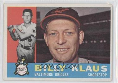 1960 Topps - [Base] #406.1 - Billy Klaus (White Back) [Good to VG‑EX]