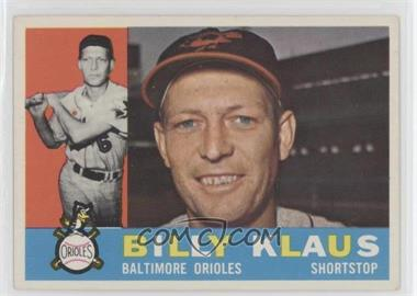 1960 Topps - [Base] #406.1 - Billy Klaus (White Back)