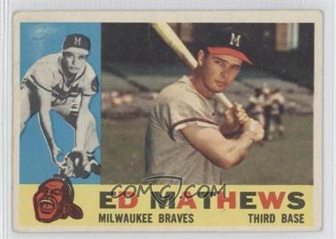 1960 Topps - [Base] #420.2 - Eddie Mathews (Gray Back) [Good to VG‑EX]