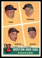 Rudy York, Sal Maglie, Del Baker, Billy Herman [EX]