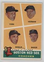 Rudy York, Sal Maglie, Del Baker, Billy Herman