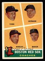 Rudy York, Sal Maglie, Del Baker, Billy Herman [VGEX]