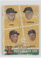 Rudy York, Sal Maglie, Del Baker, Billy Herman [Altered]