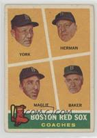 Rudy York, Sal Maglie, Del Baker, Billy Herman [NonePoortoFai…