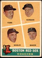 Rudy York, Sal Maglie, Del Baker, Billy Herman [GD+]