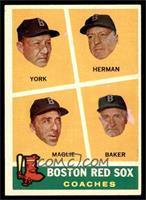 Rudy York, Sal Maglie, Del Baker, Billy Herman [EXMT]