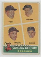 Rudy York, Sal Maglie, Del Baker, Billy Herman [Poor]