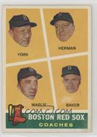Rudy York, Sal Maglie, Del Baker, Billy Herman [Poor to Fair]
