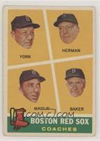 Rudy York, Sal Maglie, Del Baker, Billy Herman [NoneGoodtoVG&…