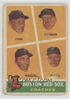 Rudy York, Sal Maglie, Del Baker, Billy Herman [Poor]