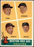 Rudy York, Sal Maglie, Del Baker, Billy Herman [GOOD]