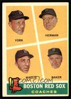 Rudy York, Sal Maglie, Del Baker, Billy Herman [EX]