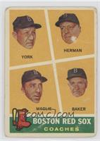 Rudy York, Sal Maglie, Del Baker, Billy Herman [Good to VG‑EX]