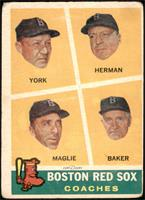 Rudy York, Sal Maglie, Del Baker, Billy Herman [FAIR]