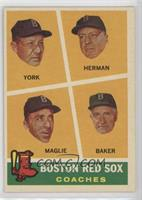 Rudy York, Sal Maglie, Del Baker, Billy Herman