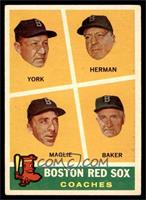Rudy York, Sal Maglie, Del Baker, Billy Herman [VG]