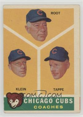 1960 Topps - [Base] #457 - Chicago Cubs Coaches (Lou Klein, Charley Root, El Tappe) [Good to VG‑EX]