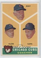 Chicago Cubs Coaches (Lou Klein, Charley Root, El Tappe)