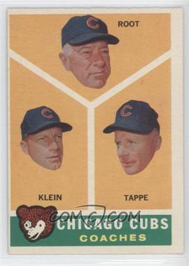 1960 Topps - [Base] #457 - Chicago Cubs Coaches (Lou Klein, Charley Root, El Tappe)