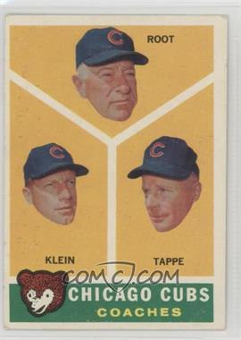1960 Topps - [Base] #457 - Chicago Cubs Coaches (Lou Klein, Charley Root, El Tappe) [GoodtoVG‑EX]