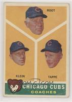 Chicago Cubs Coaches (Lou Klein, Charley Root, El Tappe) [Poor to Fai…