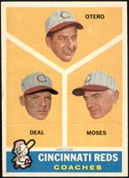 Cincinnati Reds Coaches (Reggie Otero, Cot Deal, Wally Moses) [EX MT+]
